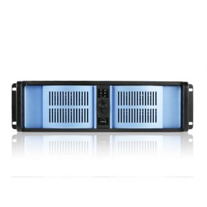 iStarUSA D Storm D-300-BLUE No Power Supply 3U Compact Stylish Rackmount Server Chassis (Blue/Black)