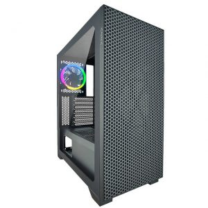 AZZA CSAZ-450 HIVE No Power Supply ATX Mid Tower Case w/Tempered Glass (Black)