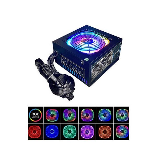 Apevia ATX-ES600-RGB 600W Essence Series Power Supply w/ ARGB Fan
