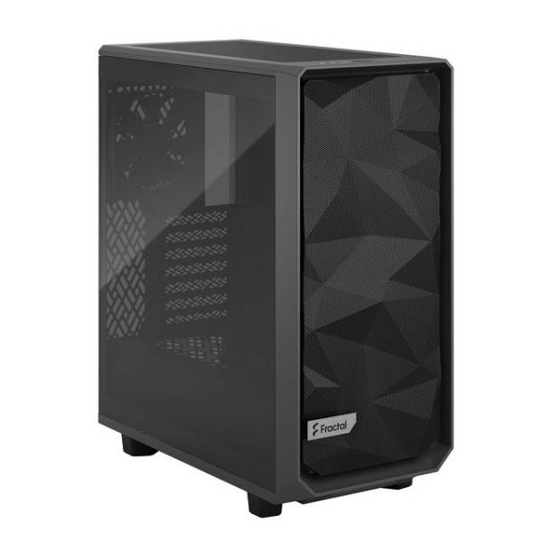 Fractal Design FD-C-MES2C-04 Meshify 2 Compact Gray Light Tempered Glass Tint ATX Mid Tower Computer Case (Gray)