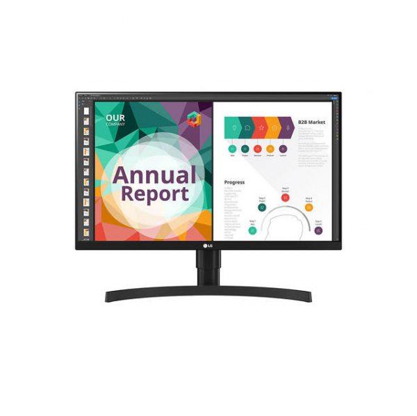 LG Electronics 27BN85U-B 27 inch 1000:1 5ms IPS UHD 4K HDMI/Displayport/USB3.0 Monitor w/ Speakers (Black Texture)