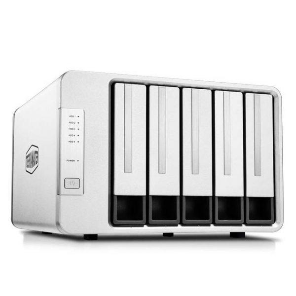 TerraMaster D5-300 USB3.0 (5Gbps) Type C 5-Bay External Hard Drive Enclosure Support RAID 5 Hard Disk RAID Storage (Diskless)